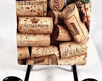 Wine Cork Coaster Set ( includes 4 tiles )