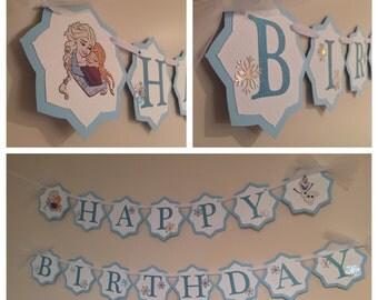 Frozen Birthday Banner
