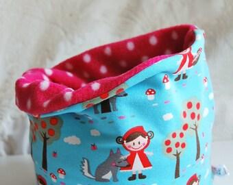 "Snood girl ""le petit chaperon rouge"" jersey/fleece polka dot"