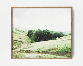 Meadow, Printable Art, Landscape Wall Art, Meadow Print, Nature Decor, Landscape Photo, Grassy Art, Pastel Print, Room Decor, Country Print