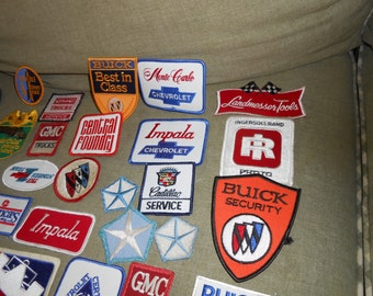 Vintage Automobile patches from the 1950's - 1970's