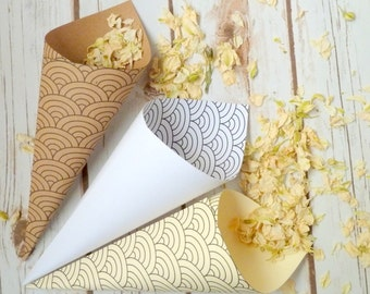 10 confetti cones twenties style.