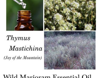"Marjoram Essential Oil, Wild Marjoram Essential Oil - Thymus mastichina – 100% Pure Authentic Wild Marjoram EO-- ""Joy of the Mountain"""