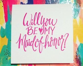 Card Set of 4: Will you be my maid of honor?