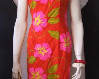 Malihini Hawaii  vintage dress