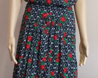 Especially Yours vtg girls church  dress floral pattern size 5 EUC