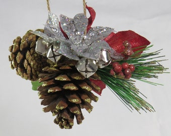 Christmas decorations,scented pinecone ornament, Holiday decor, entry decor, Christmas tree ornament, office holiday decor, door decor