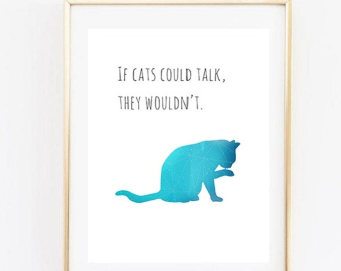 Cat Printable Poster / Funny Cat Quote Poster / Stampa digitale / A4 / A3 Print