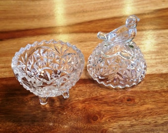 Crystal Bird Trinket Box