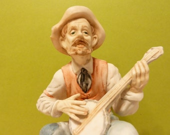 Vintage Western Figurine, Banjo Playing Country Man, By: Narco