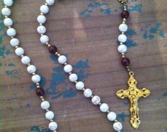 white & wine rosary