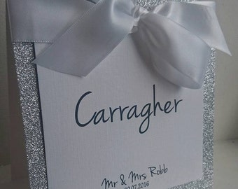 Glitter Tent Card Table Name/Number Wedding Table Card