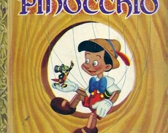 VINTAGE! 1940's Little Golden Book~PINOCCHIO