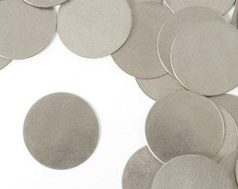 """Aluminum Stamping Blanks Metal Stamping Blanks 3/4"""" Circle Blanks 20 Gauge Circle Blanks 4 pieces"""