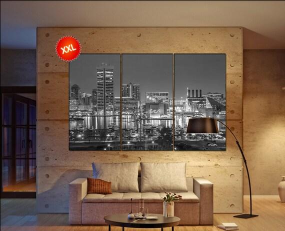Baltimore skyline canvas  skyline Baltimore skyline  canvas art Baltimore skyline wall decoration xx large canvas
