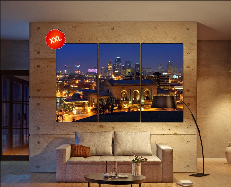 Kansas City Wall Art kansas city skyline wall art print prints on canvas kansas city