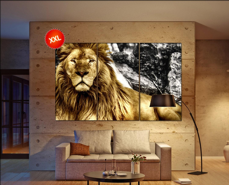 lion canvas wall art lion wall decoration lion canvas wall art art lion large canvas wall art. Black Bedroom Furniture Sets. Home Design Ideas