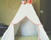 The Beckett Teepee (with colored pom-pom fringe)