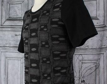 Black an Grey Hole Shirt