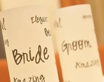 Word Cloud Art Luminaries - Wedding Candle Luminary - Wedding Candle Ideas - Wedding Table Decor - Wedding Luminary - Wedding Sign