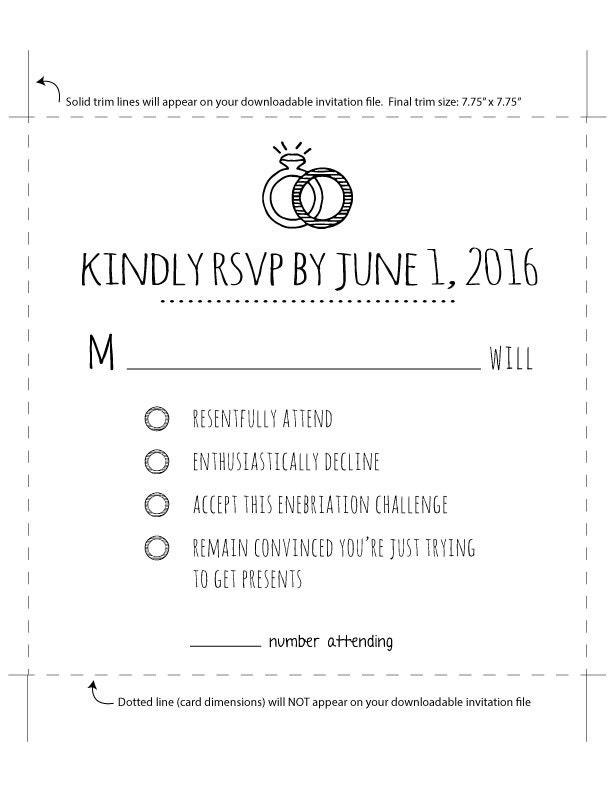 simple wedding invite invitation template funny wedding