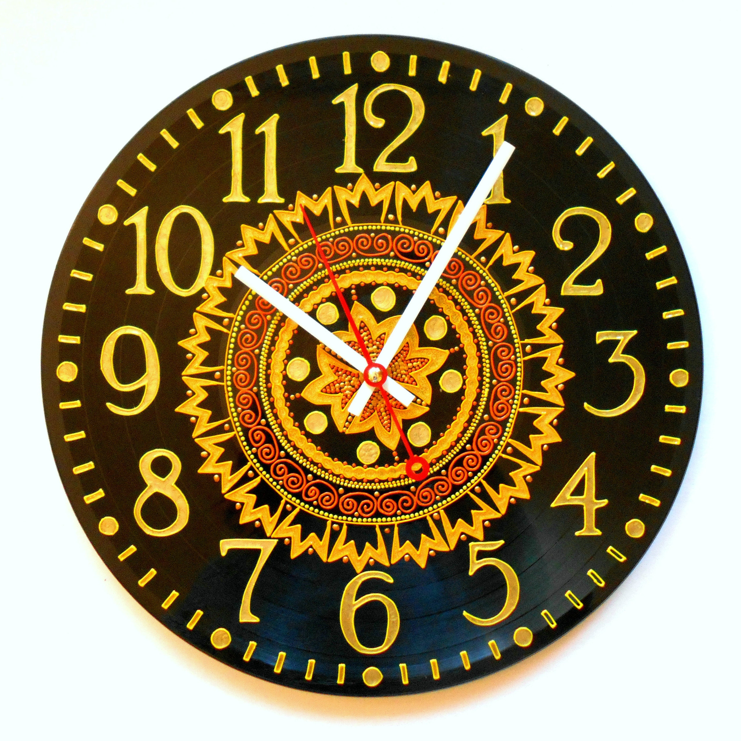 TURQUOISE WALL CLOCK Home decor for girlfriend Aboriginal