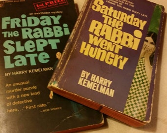 The pair: Friday the Rabbi Slept Late and Saturday the Rabbi Went Hungry