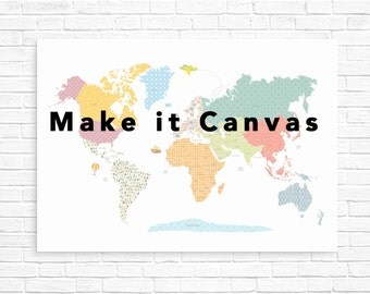 Nursery canvas art, kids world map canvas, canvas art for kids, wall art canvas, nursery decor, nursery wall art, nursery canvas art,