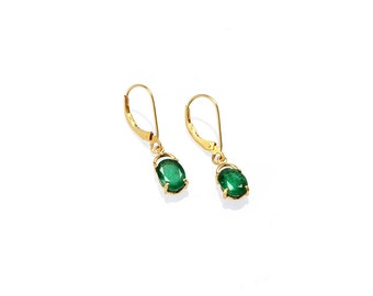 "Earring ""Emeralds Mantis"""