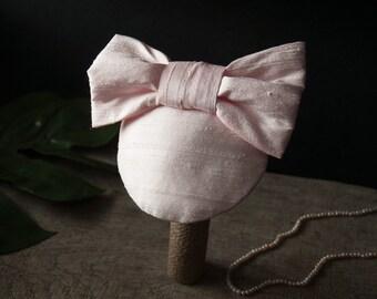Fascinator Pink Silk