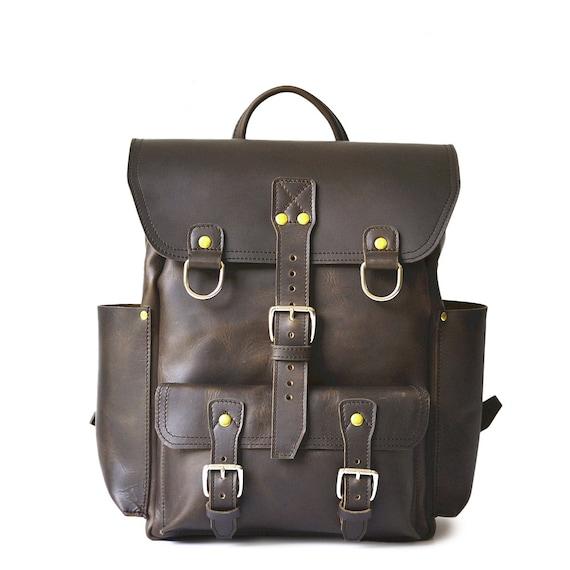 Leather backpack men   Etsy