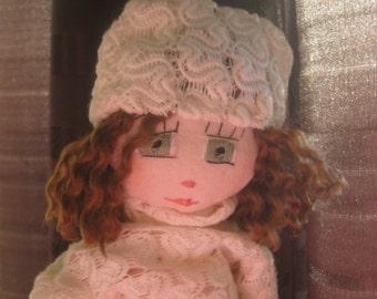 Doll with big green eyes
