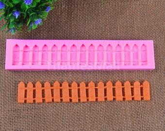 Garden fence  fondant silicone mold