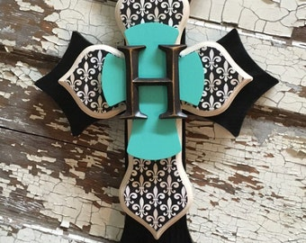 Monogrammed Decorative Wall Cross