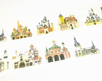 Castles washi tape (T00464)