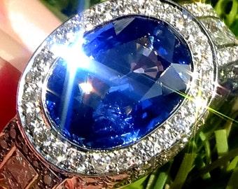Blue sapphire engagement ring, Estate sapphire ring, Blue Sapphire Ring, Sapphire Ring, Sapphire jewellry, Sapphire diamond ring, Sapphire