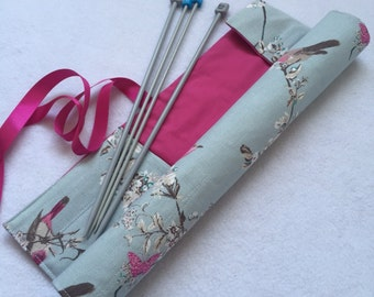 Knitting Needle Case, Knitting Needle Roll, Crochet Hook Storage, Gift For Her, Mothers Day