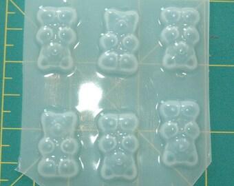 6 Gummy Bears a - Flexible Plastic Resin Molds