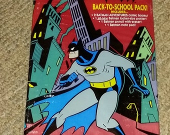 Vintage 1993 Batman the Animated Series Poster, Comics, Back to School Kit