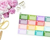 Things to Clean -- GIRL BOSS -- Matte Planner Stickers
