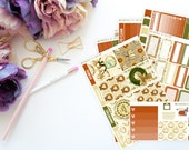 Fall Vertical Weekly ECLP Kit -- Matte Planner Stickers
