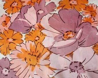Darling Pink/Orange Spring Floral Oblong Scarf
