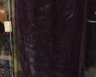1990' Carla Carini lilac shades snakeskin effect pencil skirt. Size M.