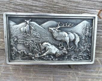 1970's Elk scene belt buckle