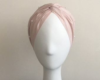 GOHARA Silk Pearl Embellished Turban
