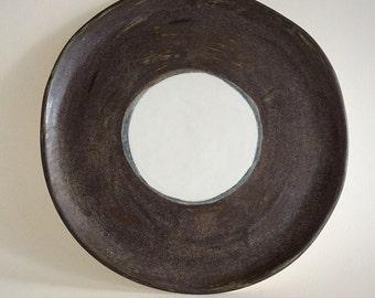 Ceramic dinner plate, handmade, minimalist