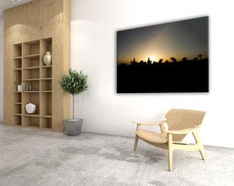 "Canvas ""mosque at sunset"""