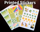 Erin Condren Horizontal Weekly Sticker Kit - St. Patricks Day - Planner Stickers - HWK-004