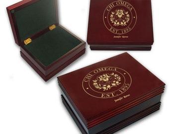 Chi Omega Engraved Keepsake Box