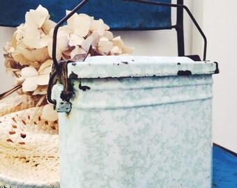 Vintage enamel Lunch Box/Decorative Kitchen Storage